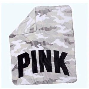 Vs Pink Camo Fleece Blanket new gray white holiday